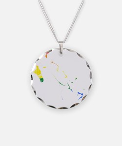 Bahamas Rainbow Pride Flag And Map Necklace