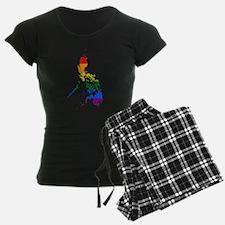 Philippines Rainbow Pride Flag And Map Pajamas