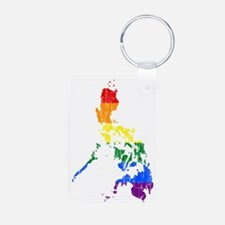 Philippines Rainbow Pride Flag And Map Keychains