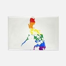 Philippines Rainbow Pride Flag And Map Rectangle M
