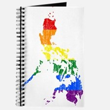 Philippines Rainbow Pride Flag And Map Journal