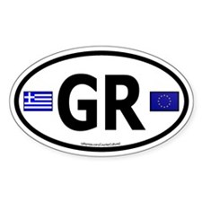 Greek Euro Oval Decal