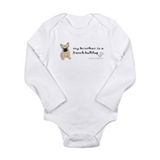 Unique Kids bulldog Long Sleeve Infant Bodysuit