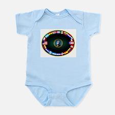 WA Hispanic Image Org Logo noframe Infant Bodysuit