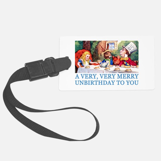 2-ALICE_UNBIRTHDAY_BLUE.png Luggage Tag