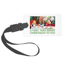 ALICE_UNBIRTHDAY_GREEN.png Luggage Tag