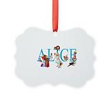 Alice in wonderland Picture Frame Ornaments