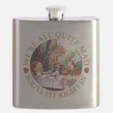 We're All Quite Mad, You'll Fit Right In Flask