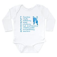 Cute Frenchie Long Sleeve Infant Bodysuit