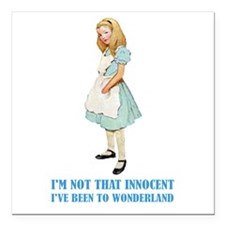 """ALICE _not that innocent.png Square Car Magnet 3"""""""