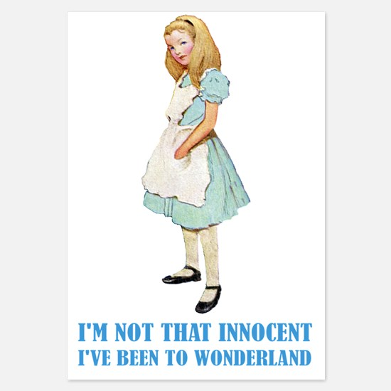 ALICE _not that innocent.png 3.5 x 5 Flat Cards