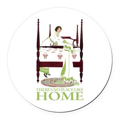 There's No Place Like Home Round Car Magnet