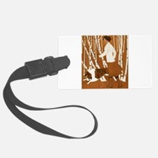 THROUGH THE WOODS_CLOCK_BLACKGOLD.png Luggage Tag