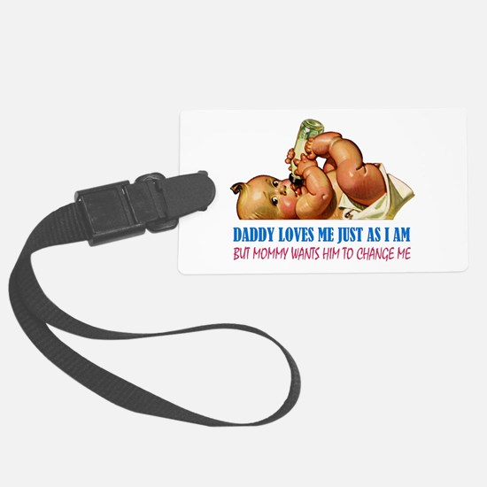 DADDY LOVES ME Luggage Tag