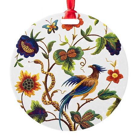 Warwick Embroidery Round Ornament