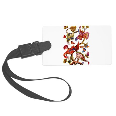 crewel work002-small.png Large Luggage Tag
