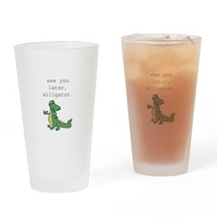 See you later, Alligator! Drinking Glass