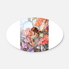 Sweet_Pea_poster_Fairy.png Oval Car Magnet