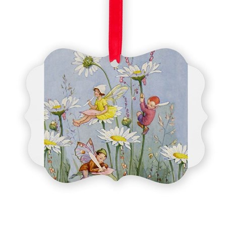 FAIRIES_Moon Daisies_SQ.png Picture Ornament