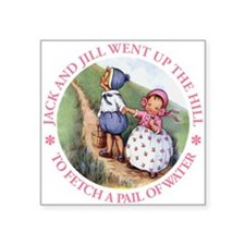 """Jack And Jill copy.png Square Sticker 3"""" x 3"""""""