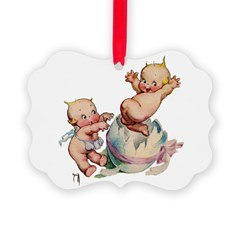 KewpiesBUSTIN OUT.jpg Picture Ornament