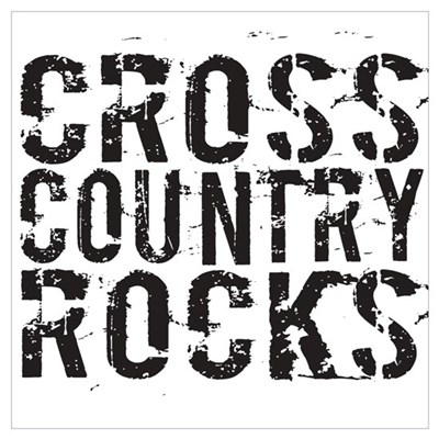 Cross Country Rocks Framed Print