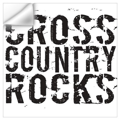 Cross Country Rocks Wall Decal