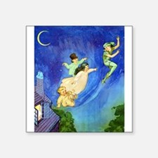 "PETER PAN - FLYING Square Sticker 3"" x 3"""
