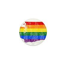 Washington Rainbow Pride Flag And Map Mini Button