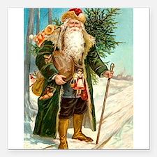 """! Santa 2.png Square Car Magnet 3"""" x 3"""""""