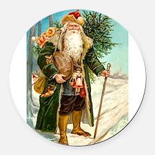 ! Santa 2.png Round Car Magnet