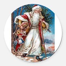 ! Santa 1.png Round Car Magnet