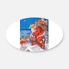 Santa Claus 60_10x14V.png Oval Car Magnet