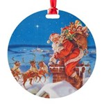 Santa Claus 60_RD.png Round Ornament