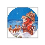 Santa Claus 60_RD.png Square Sticker 3