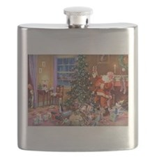 SANTA CLAUS ON CHRISTMAS EVE Flask