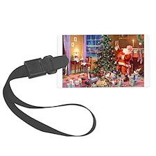 SANTA CLAUS ON CHRISTMAS EVE Luggage Tag