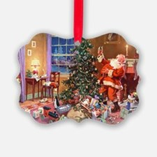 SANTA CLAUS ON CHRISTMAS EVE Ornament
