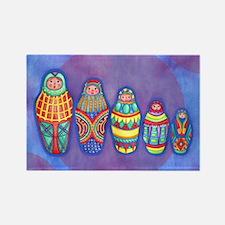 Matryoshka Dolls Rectangular Magnet