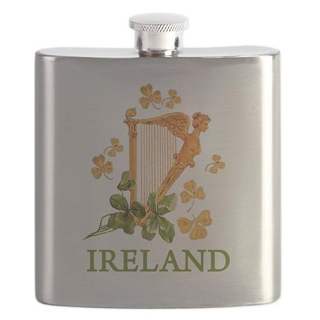 Ireland - Golden Irish Harp Flask
