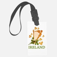 Ireland - Golden Irish Harp Luggage Tag