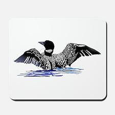 loon on lake Mousepad