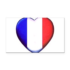 My French Heart Rectangle Car Magnet