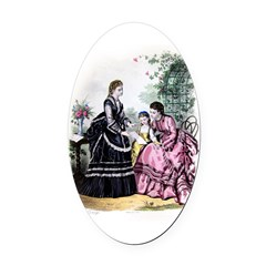 LA MODE ILLUSTREE - 1871 Oval Car Magnet