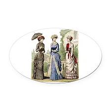 Le Monde Elegant - 1882 Oval Car Magnet