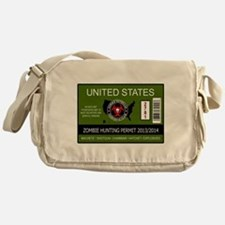 zombie hunting permit Messenger Bag