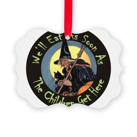 WITCH - WELL EAT 10x14.png Picture Ornament