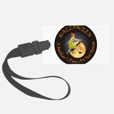 modern witch clock copy.png Luggage Tag