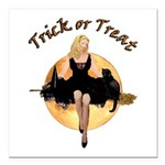 TRICK OR TREAT Square Car Magnet 3