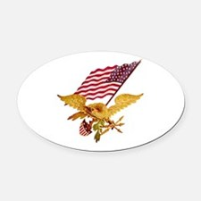 AMERICAN EAGLE Oval Car Magnet